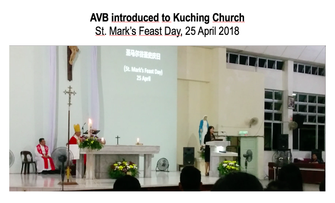 AVB introduced on St Mark's Feast Day