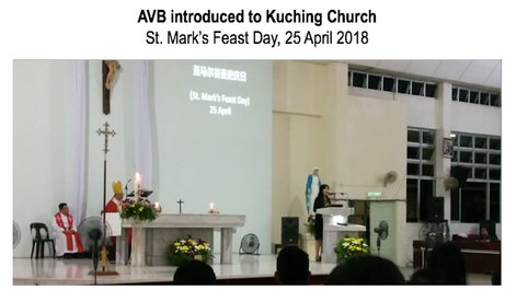 AVB Promoted at St Mark's Church Kuching